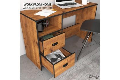 Ready Stock JACKSON Series Study Desk - 1 Colour - 3.4 Feet - Meja Belajar 3.4 Kaki