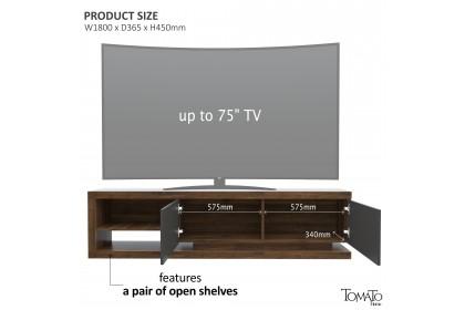 Ready Stock DOLCE Series TV Cabinet - 1 Color - 6 Feet - Kabinet TV 75 Inchi - 6 kaki